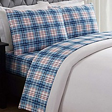 image of Truly Soft Everyday Printed Nautical Plaid Sheet Set