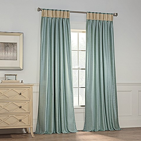 Buy Milena 84 Inch Pinch Pleat Window Curtain Panel In Spa From Bed Bath Beyond