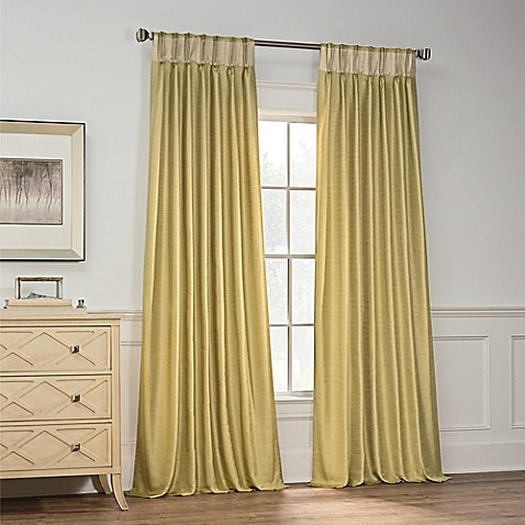 Buy Milena 108 Inch Pinch Pleat Window Curtain Panel In Citrus From Bed Bath Beyond