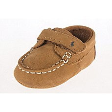 image of Ralph Lauren Layette Captain Boat Shoe in Tan