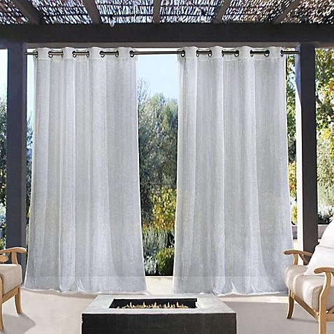 Louisa Grommet Indoor Outdoor Window Curtain Panel Bed