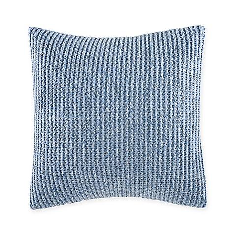 Medium Blue Throw Pillows : Nautica Broadwater Chevron Square Throw Pillow in Medium Blue - Bed Bath & Beyond