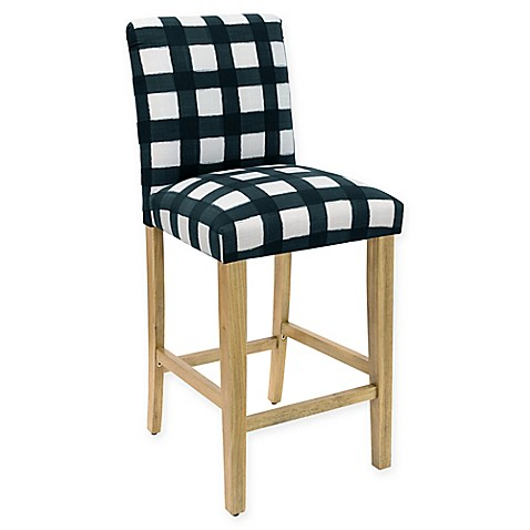 Buy Skyline Furniture Becker Bar Stool In Buffalo Square Turquoise From Bed Bath Beyond