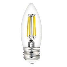image of Feit Electric 40-Watt LED Decorative Torpedo Tip Chandelier Bulbs (Set of 2)
