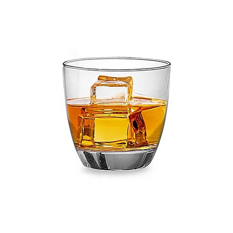 Red Series Round 12-Ounce Double Old Fashioned Glasses (Set of 4)