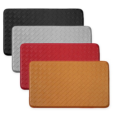 Chef Gear Diamond Weave Faux Leather Comfort Kitchen Mat