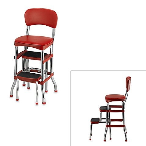 cosco retro chair step stool in red bed bath beyond. Black Bedroom Furniture Sets. Home Design Ideas