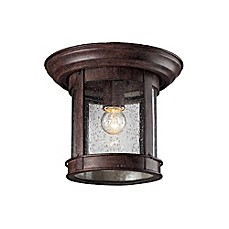 image of Z-Lite Oriana 1-Light Outdoor Ceiling Fixture