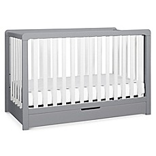 image of carter's® by DaVinci® Colby 4-in-1 Crib with Drawer in Grey/White