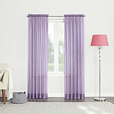 image of 84-Inch Sheer Rod Pocket Window Curtain Panel in Lavender