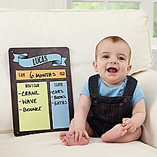 Personalized baby gifts personalized gifts for boys girls image of my baby month by month dry erase sign negle Gallery