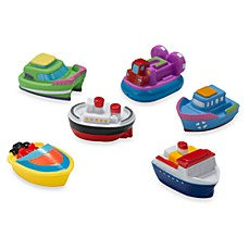 image of Elegant Baby® Boat Squirties Bath Set