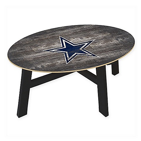 Nfl Dallas Cowboys Distressed Wood Coffee Table Bed Bath Beyond