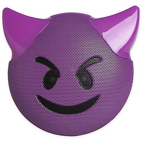 Image Of JAM® Wireless Bluetooth Trouble Emoji Speaker In Purple