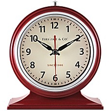 Image Of FirsTime® Colorfully Awake Tabletop Clock In Red