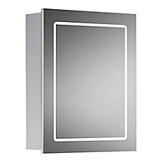 image of Cassini LED Mirror Cabinet in Chrome