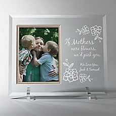 image of Mothers Flowers/We Love You 4-Inch x 6-Inch Personalized Picture Frame