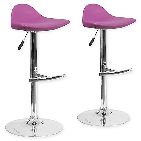 Buy Flash Furniture Vinyl Adjustable Bar Stools In Purple