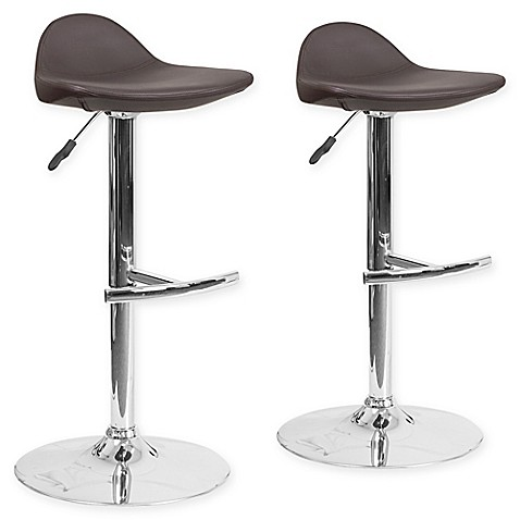 Buy Flash Furniture Vinyl Adjustable Bar Stools In Brown