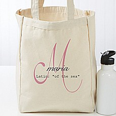image of Name Meaning Petite Canvas Tote Bag