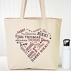 image of Close To Her Heart Canvas Tote Bag