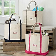 image of The Deluxe Weekender Embroidered Name Tote