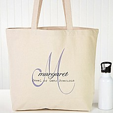 image of Name Meaning Canvas Tote Bag
