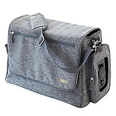 image of bbluv Ultra Diaper Bag with 5 Accessories in Heather Grey