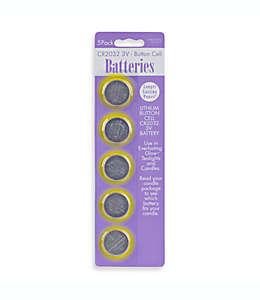 Baterías de repuesto para velas Set de 5 CR2032-3V