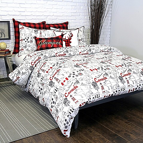 Alamode home great white north duvet cover bed bath beyond for Canadian home decor stores
