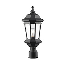 image of Melany Outdoor Lantern Collection in Black