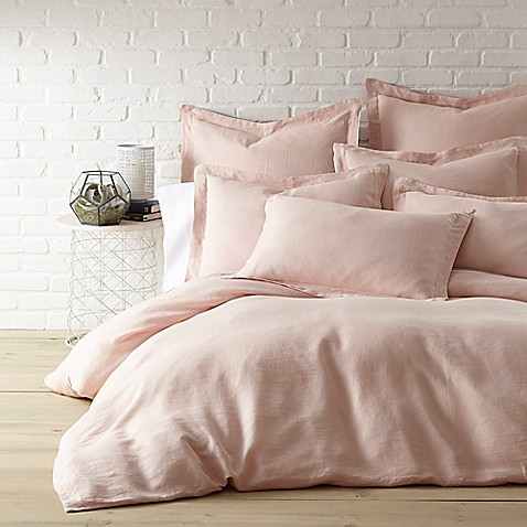 Levtex Home Washed Linen Duvet Cover In Coal Bed Bath