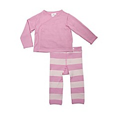 image of Cuddl Duds® 2-Piece Kimono Cardigan and Pant Set in Pink
