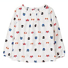 image of Gymboree® Kitty Print Long Sleeve T-Shirt in Ivory