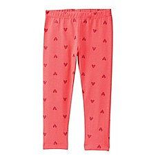 image of Gymboree® Glitter Heart Print Legging in Pink