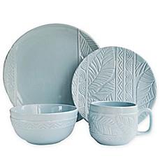 Caribbean Joe Palm Leaf 16-Piece Dinnerware Set in Mist  sc 1 st  Bed Bath \u0026 Beyond & Tropical Dinnerware | Palm Tree Dinnerware Sets | Bed Bath \u0026 Beyond