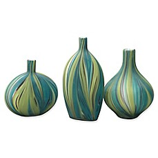 image of Jamie Young Stream Vessels in Green/Blue (Set of 3)