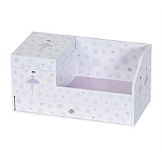 image of Mele & Co Bethany Girl's Musical Ballerina Jewelry Box in White
