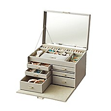 image of Quin Deluxe Jewelry Case in Grey