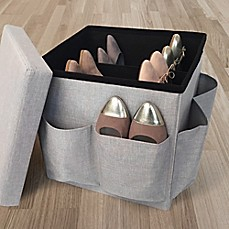 Image Of Market Village Shoe Storage Cube In Grey