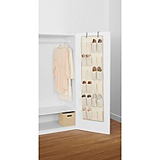 Real Simple® 24 Pocket Over The Door Shoe Organizer In Natural