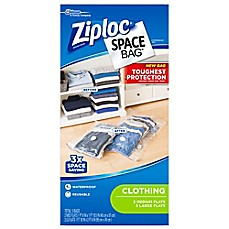 image of Ziploc® Space Bag® 5-Count Flat Combo Variety Pack in Clear