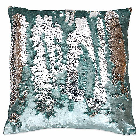 Best Thro by Marlo Lorenz Melody Mermaid Sequin Square Throw Pillow  BX95