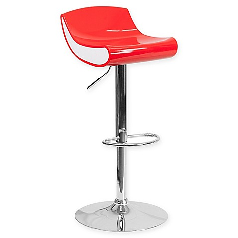 Buy Flash Furniture 34 Inch Adjustable Chrome Pedestal Bar