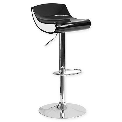 Flash Furniture 34 Inch Adjustable Chrome Pedestal Bar