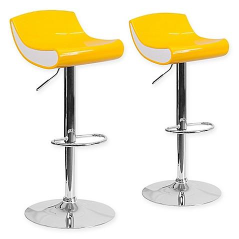 Buy Flash Furniture 34 Inch Adjustable Chrome Pedestal Bar