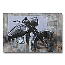 image of Motorcycle Profile 48-Inch x 32-Inch Canvas/Wood Wall Art