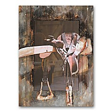 image of Saddle 30-Inch x 40-Inch Canvas/Wood Wall Art