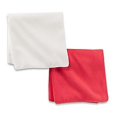 image of Self® 2-Pack Hair Towel in Coral/White