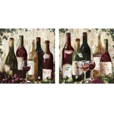 Wine 12 Inch X 24 Inch Canvas Wall Art (Set Of 2)